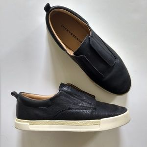 Lucky Brand Black Slip On Fashion Sneakers